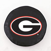Georgia Bulldogs Black Tire Cover, Large
