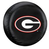 Georgia Bulldogs Black Spare Tire Cover