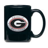 Georgia Bulldogs Black Coffee Mug Set