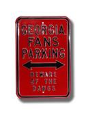 Georgia Bulldogs Beware of the Dawgs Parking Sign