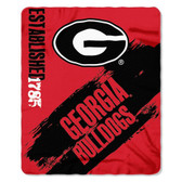 Georgia Bulldogs 50x60 Fleece Blanket - College Painted Design