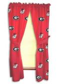 "Georgia Bulldogs 42"" x 63"" Curtain Panels"