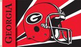 Georgia Bulldogs 3 Ft. x 5 Ft. Flag w/Grommets - Helmet Design