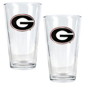 Georgia Bulldogs 2pc Pint Ale Glass Set