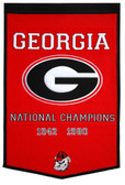 "Georgia Bulldogs 24""x36"" Dynasty Wool Banner"