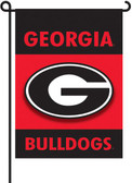 Georgia Bulldogs 2-Sided Garden Flag Set w/ #11213 Garden Pole