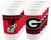 Georgia Bulldogs 16 oz. Beverage Cups