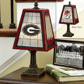 "Georgia Bulldogs 14"" Art Glass Table Lamp"