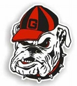 "Georgia Bulldogs 12"" Bulldog Car Magnet"