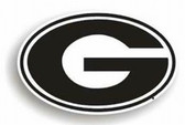 "Georgia Bulldogs 12"" ""G"" Car Magnet"