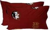 FSU Printed Pillow Case - (Set of 2) - Solid