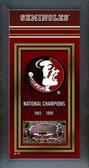 Florida State University Framed Championship Banner