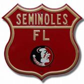 Florida State Seminoles Route Sign