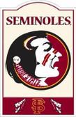 Florida State Seminoles Nostalgic Metal Sign