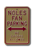 Florida State Seminoles No Gators Allowed Parking Sign