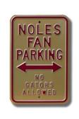 Florida State Seminoles No Gators Allowed Parking Sign