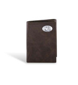 Florida State Seminoles Leather Wrinkle Brown Trifold Wallet