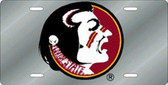Florida State Seminoles Laser Cut Silver License Plate