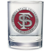 Florida State Seminoles Double Old Fashioned Glass Set