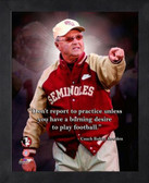 Florida State Seminoles Bobby Bowden 11x14 Pro Quotes