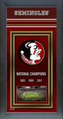 Florida State Seminoles 2014 BCS National Champions Framed Championship Banner