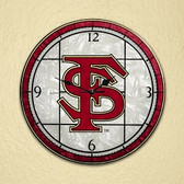 "Florida State Seminoles 12"" Art Glass Clock"