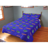 Florida Gators Reversible Comforter Set (Full)
