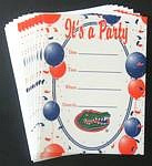 Florida Gators Party Invitations