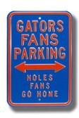 Florida Gators Noles Go Home Parking Sign