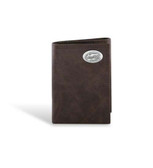Florida Gators Leather Wrinkle Brown Trifold Wallet