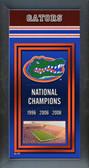 Florida Gators Framed Championship Banner