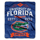 "Florida Gators 50""x60"" Royal Plush Raschel Throw Blanket -  Label Design"