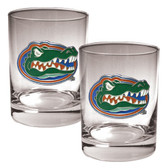 Florida Gators 2pc Rocks Glass Set