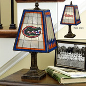 "Florida Gators 14"" Art Glass Table Lamp"