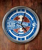 Duke Blue Devils Chrome Clock