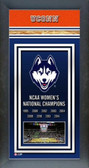 Connecticut Huskies Women's Basketball Framed Champions Banner