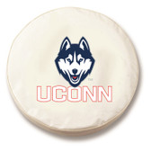 Connecticut Huskies White Tire Cover, Large