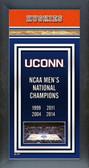 Connecticut Huskies Men's Basketball Framed Champions Banner
