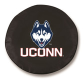 Connecticut Huskies Black Tire Cover, Small