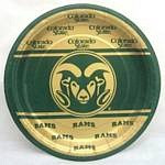 "Colorado State Rams 9"" Dinner Paper Plates"