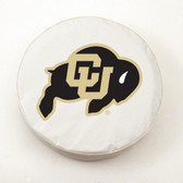 Colorado Buffaloes White Tire Cover, Small