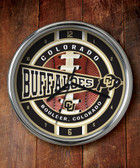 Colorado Buffaloes Chrome Clock