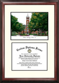 Clemson University Scholar Framed Lithograph with Diploma