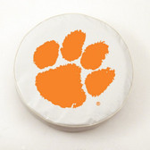 Clemson Tigers White Tire Cover, Small