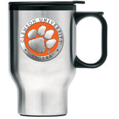 Clemson Tigers Stainless Steel Travel Mug