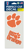 Clemson Tigers Set of 2 Die Cut Decals
