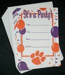 Clemson Tigers Party Invitations
