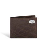 Clemson Tigers Leather Wrinkle Brown Passcase Wallet