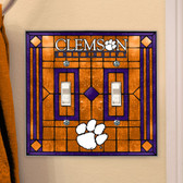 Clemson Tigers Double Lightswitch Cover