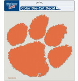 "Clemson Tigers Die-Cut Decal - 8""x8"" Color"